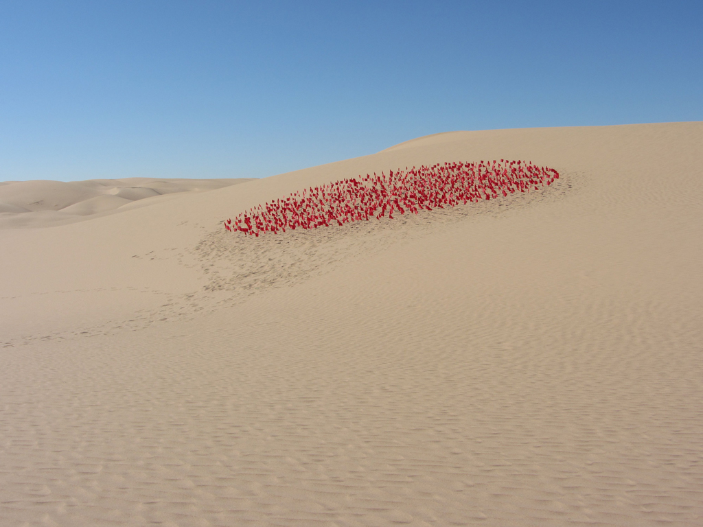 """Radial Red"" Imperial Dunes, California"